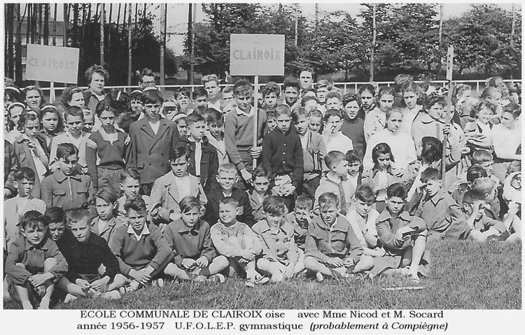 Album - le village de Clairoix (Oise), les écoles de 1919 à 1971