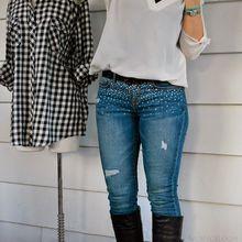 Jeans à paillettes