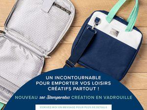 Stampin'Up! Un sac pour faciliter son transport ainsi que des accessoires sont venues peaufiner la gamme du Stamparatus.
