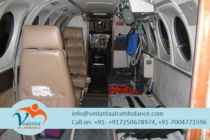 Hire 24 Hours an Emergency Air Ambulance Service in Delhi by Vedanta Air Ambulance