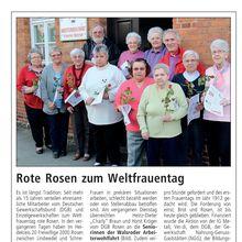 Walsroder Zeitung 8.3.12 -- rote Rosen vom DGB für AWO-Seniorinnen in Walsrode