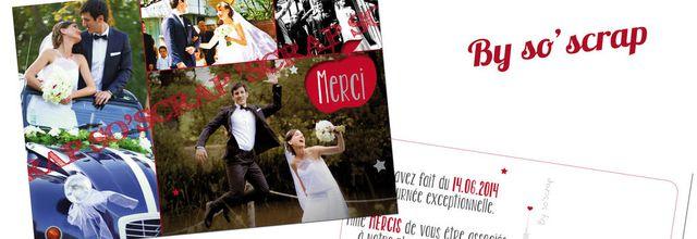 La carte de remerciements de mariage d'Audrey et Anthony ... thème big Apple