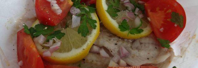 Filets de sole en papillote -recette light-