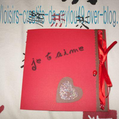 Carte saint valentin pour mon chéri