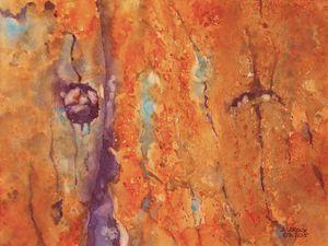 """""""Enlacements"""" (65 x 85 cm) et """"Mousse"""" (43 x 53 cm)"""