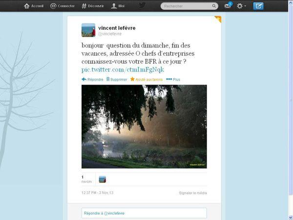 vincent lefèvre @vinclefevre depuis le 3 Novembre sur Twitter...