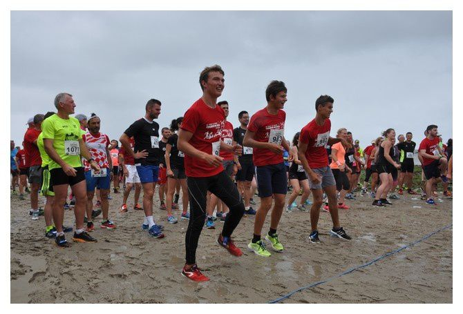 Saint Vaast la Hougue, course du Run 2018 :l'échauffement (4/4)