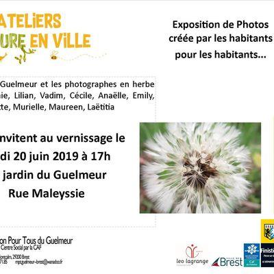 """Vernissage de l'expo photos """"Nature en Ville"""" aux Jardins du Guelmeur"""