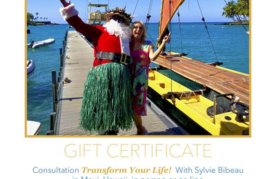 "Gift Certificates  ""Transform Your Life!"""