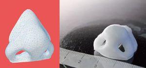 Cartilage de nez imprimé en 3D