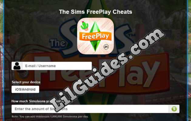 The Sims FreePlay Cheat for Simoleons and Lifestyle Points