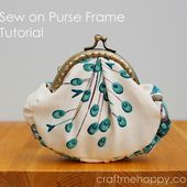 Frame Purse Tutorial | Craft me Happy!: Frame Purse Tutorial
