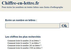 Site Internet: Chiffre en lettre