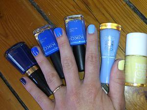 Ombré nails : une base blanche pour bien faire ressortir les couleurs!