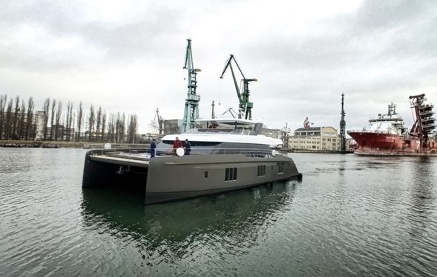 Sunreef - launching of Otoctone 80, a luxury motoryacht catamaran