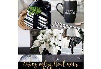 Créez un Noël en noir et blanc