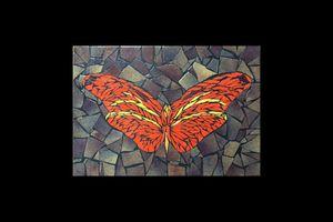 Papillon mosaïque