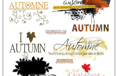 Un Pack de Word art aux couleurs de l'automne