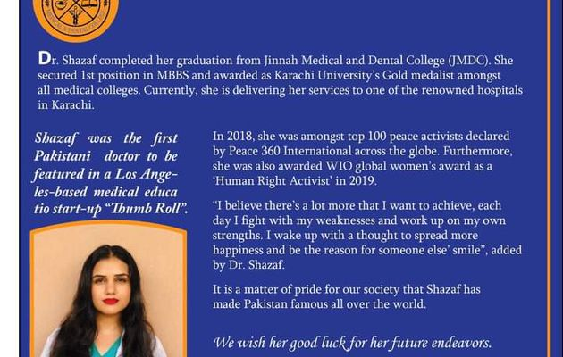 First Pakistani Doctor to be featured in 'Thumbroll' - Los Angeles-based Medical education Start-up