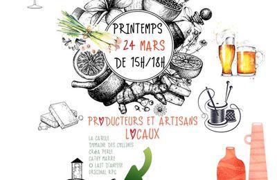 Marché de printemps à Crépol : 24 mars. Producteurs et artisans locaux!