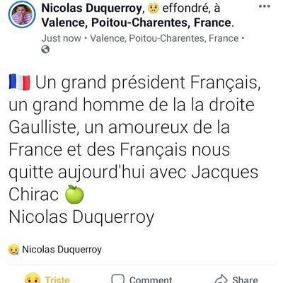 Hommage à Jacques Chirac un grand homme de droite