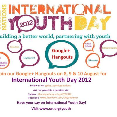 Celebration of the International Youth Day on 12th August, 2012