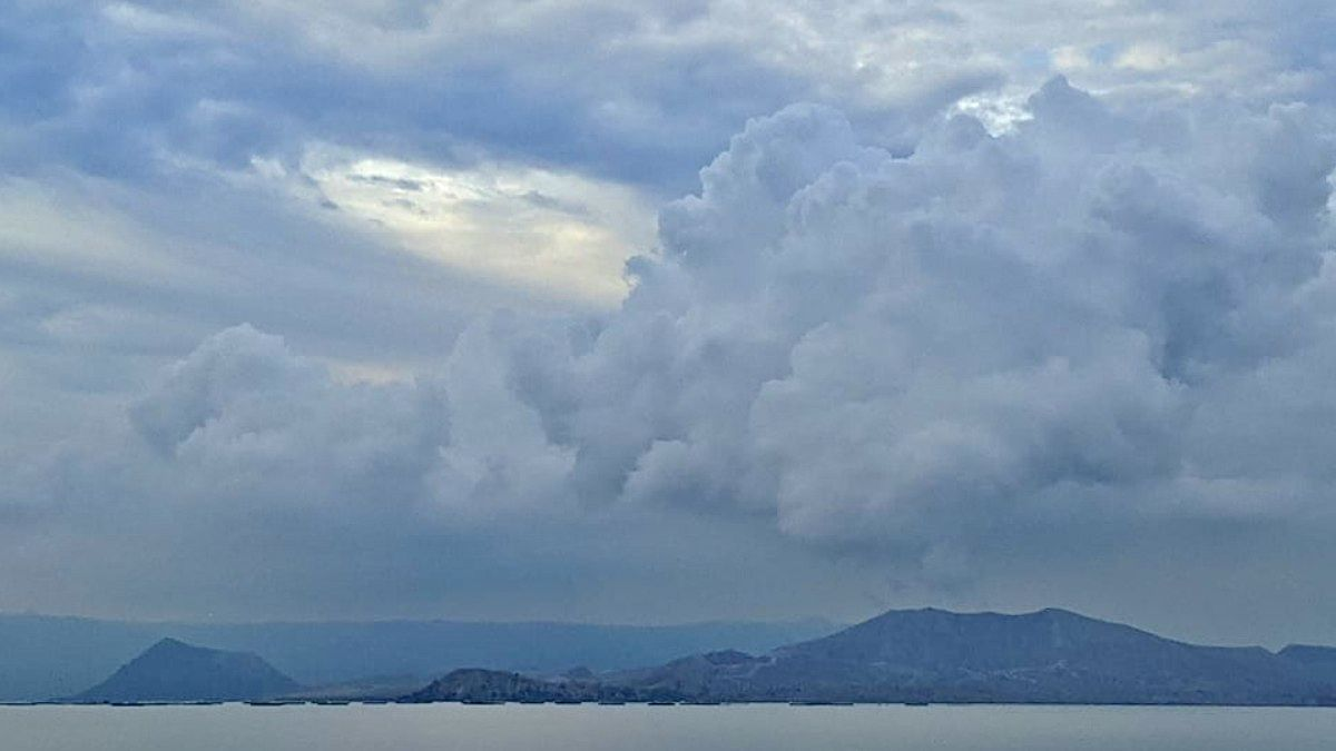 Taal - its contours are blurred by VOG - photo 25.06.2021 / reportrdotworld