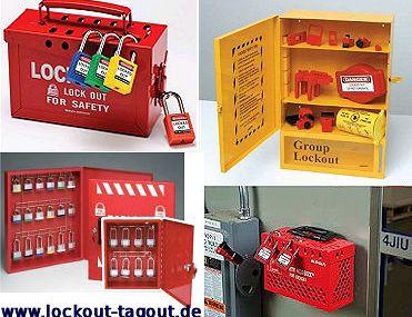 Schlösseraufbewahrung: Lockout-Boxen und Gruppenverschlusskästen