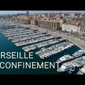 Survol de MARSEILLE en CONFINEMENT