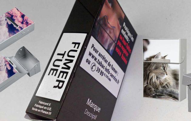 Paquet de cigarettes personnalisé avec photos, images, texte
