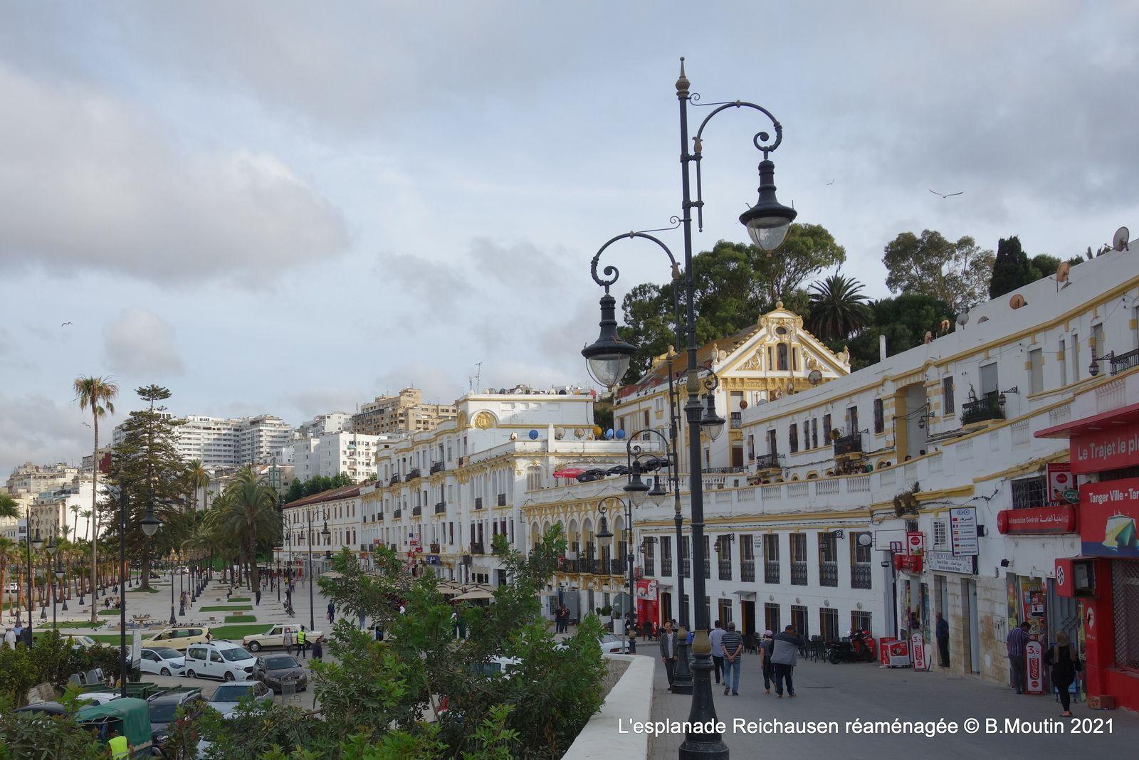 5 photos de l'esplanade Renschhausen réaménagée (Tanger juin 2021)