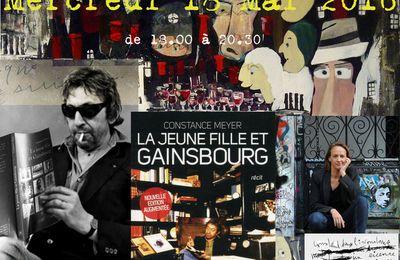 """18 mai 2016 : Dédicace parisienne de """"La jeune fille et Gainsbourg"""""""