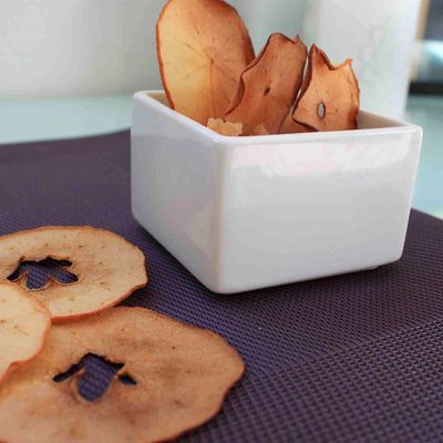 Compote pommes poires et chips
