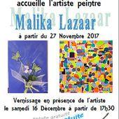 MALIKA LAZAAR expose au restaurant LE MARMITON de Mareau aux Prés - 27 novembre 2017 / Janvier 2018 - VIVRE AUTREMENT VOS LOISIRS avec Clodelle