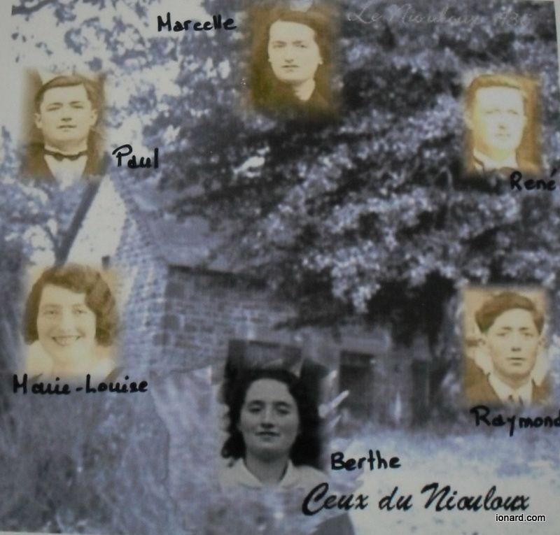 """<a href=""""http://gw0.geneanet.org/index.php3?b=danymagnaval&lang=fr;p=adrien+leonard;n=magnaval""""><span style=""""font-weight: bold;"""">Famille Magnaval</span></a><br />Adrien, ses soeurs Amélie et Clémence, ses frères Damien le Mitron, Edouard, Louis, Joseph , sa femme Joséphine<br />Ses enfants Damien, Louis, Elie , Jean, Joseph, Marguerite, Louise et Yvonne.<br />Sa mère Elisabeth Bunisset<br />Ses grands parents Léonard Bunisset et Jeanne Lafarges"""