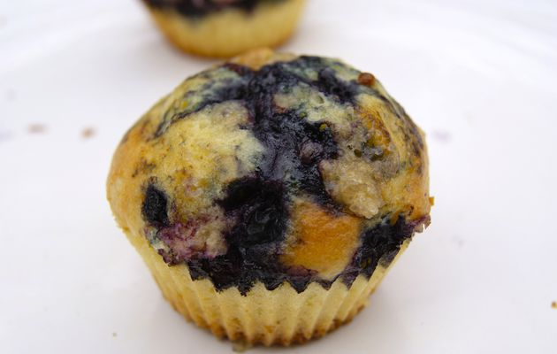 Muffins extra moelleux aux myrtilles (USA)