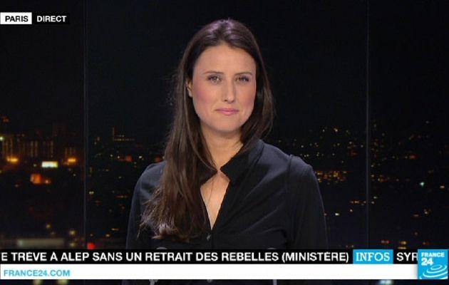 📸 AUDE LECHRIST ce soir @FRANCE24 @France24_fr pour PARIS DIRECT #vuesalatele #10F24