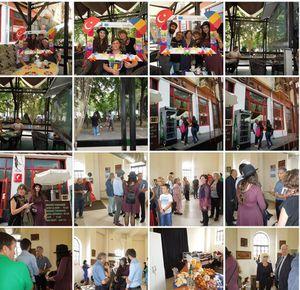 25th September, New Bridge EVS Project, Irem, Sema and Ethem at Art Castle Galery
