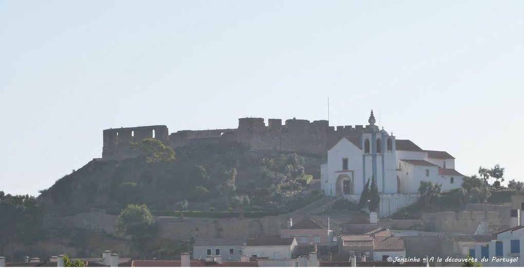 Quelques bâtisses du centre, et le château de Torres Vedras, au lever du soleil (d'où l'aspect pas réussi de la photo lol)