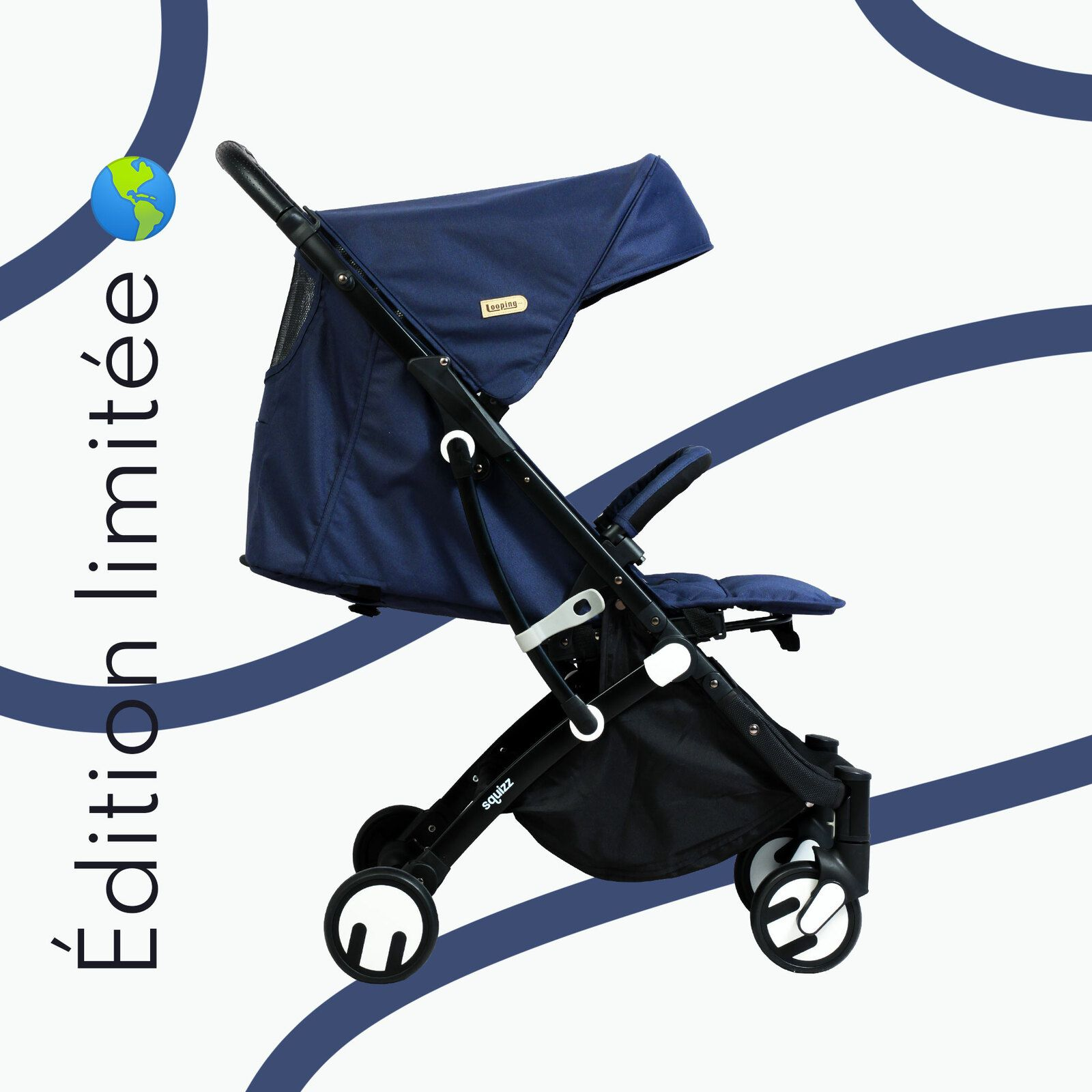 SQUIZZ 3 EDITION LIMITEE ECO RESPONSABLE NAVY BLUE