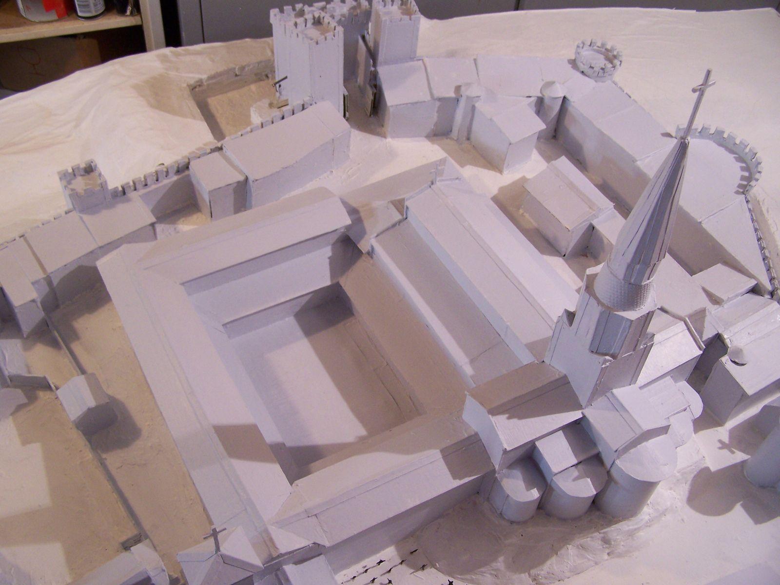 bientôt fini la maquette de l'abbaye de savigny
