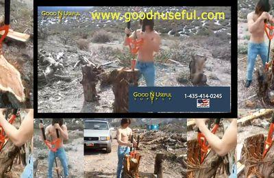 Voici L'OUTIL ideal pour fendre les buches de bois à Noel et faire du Bois de Chauffage : le SPLITZ ALL - Log Splitter - Firewood de Good N Useful