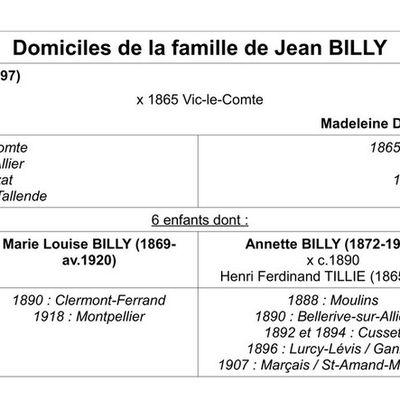 A travers l'Auvergne : sur les traces d'une famille dispersée
