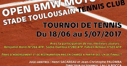 Le Stade Toulousain Tennis Club organise l'Open BMW Moto Ride