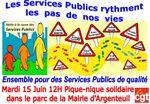 Mardi 15 Juin: Pique nique solidaire pour la défense des Services Publics