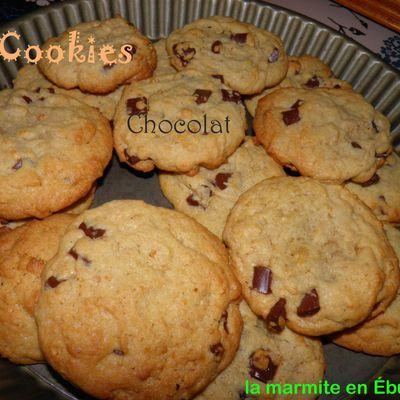 Cookies aux chunks de chocolat noir