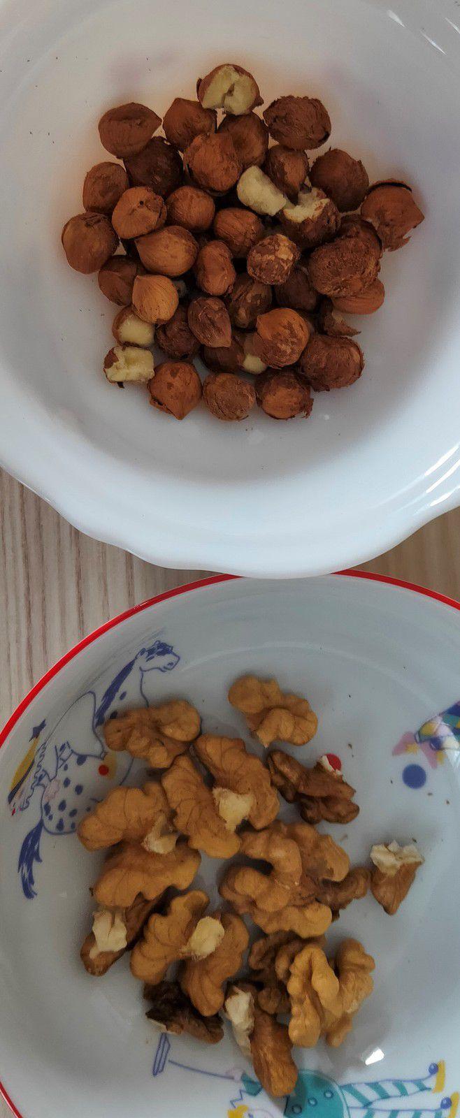 Fudges aux noix et noisettes