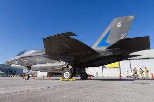 "Lockheed Martin F-35 Lightning II of VMFAT 501 ""Warlords"""