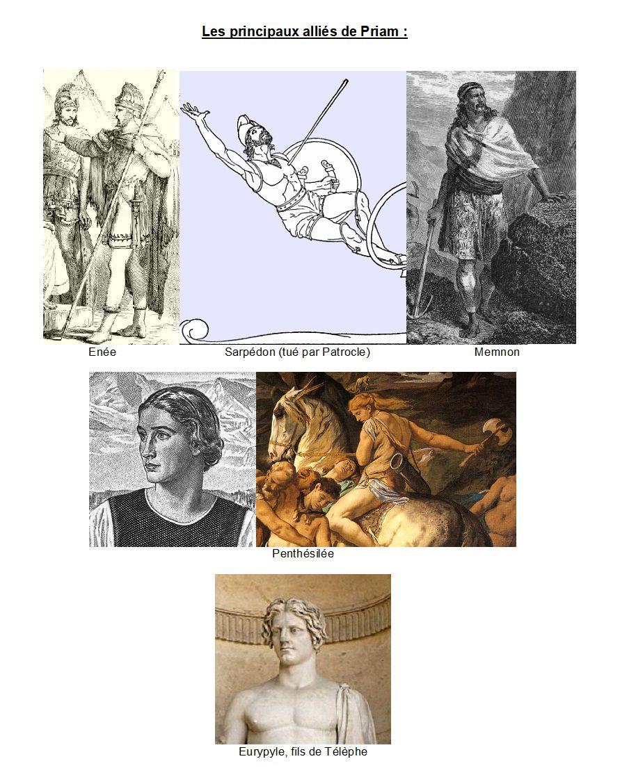 Les principaux alliés de Priam