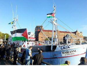 """Le chalutier """"Marianne de Gothenburg"""" en route pour briser le blocus de Gaza"""